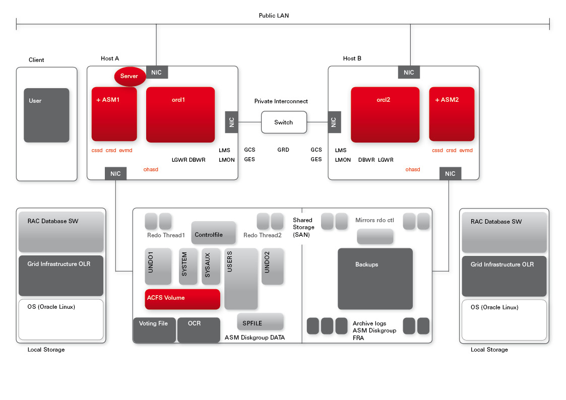 Rac commands for Oracle 10 g architecture