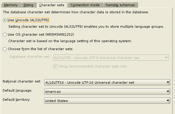Machine generated alternative text: Character sets The