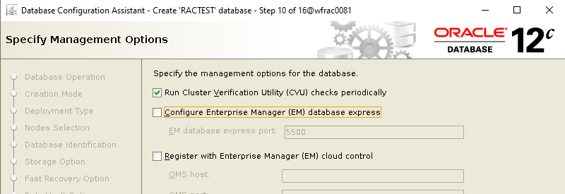 Machine generated alternative text: Database Configuration